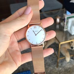 Rose gold Paul Hewitt watch